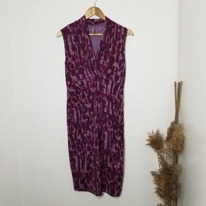 Thyme | Sleeveless Sheath Dress Purple Size Medium